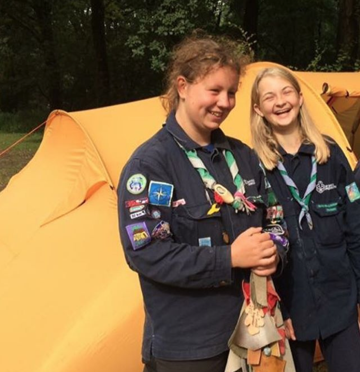 Lige kommet hjem fra spejderlejr i Holland og efterskole i morgen #korinthefterskole #korinth #holland #achterdeberg #nistelrode #scout #spejder #exited #laugh #fun #sun #summer #august - Foto: Mathildestyrbaek