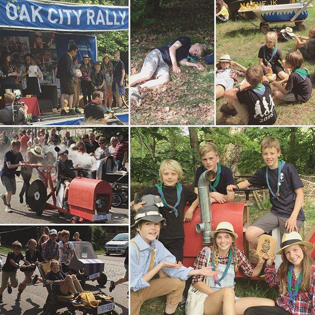 "#Oakcityrally The 12-15y team from Thorolf won the 3rd place in ""Most awesome car"" - they have designed and build it (a smoking hot tractor!), and it was their first time participating in the soapbox race So proud of being a part of this scouting group And they did the 10 km race in 1h30m #scout #scouts #spejder #detdanskespejderkorps #dds #kfum #3rdplace #awesome #sundayfunday #children #kids #egemosen #thorolf #soapbox #soapboxrace #sæbekassebilsrally #sun #summertime #outdoors #outdoorliving  - Foto: Saintcilla"