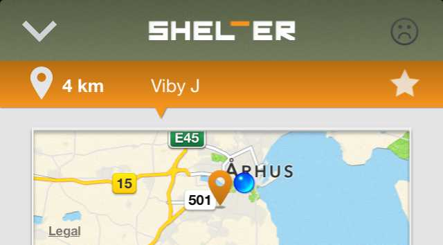 Shelter-app By: http://shelterapp.dk/
